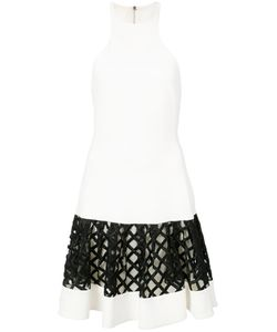 David Koma | Sleeveless Lattice Panel Dress