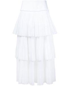 Alberta Ferretti | High-Rise Layered Midi Skirt