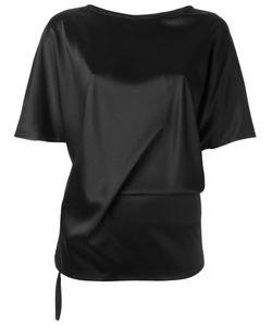 Ann Demeulemeester Blanche   Plain T-Shirt 38 Silk/Spandex/Elastane