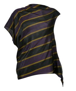 08Sircus | Striped Asymmetric Blouse Size 1