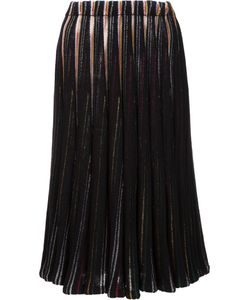 Adam Lippes | Stripe Effect Pleated Skirt