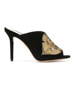 Charlotte Olympia | Cut-Out Peep Toe Mules Size 37