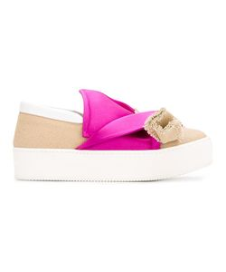 No21   Hessian Bow Sneakers 35