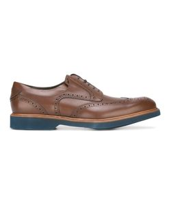 Salvatore Ferragamo | Perforated Wingtip Derby Shoes 40