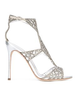 Sergio Rossi   Stone Embellished Sandals Size 36