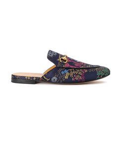 Gucci | Embroidered Princetown Jacquard Slippers