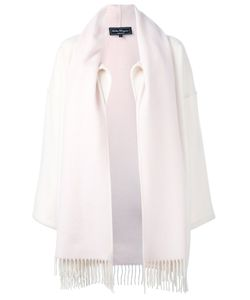 Salvatore Ferragamo | Fringed Scarf Detail Coat Women Small