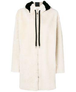 Inès & Maréchal   Fur Detail Hooded Coat Women