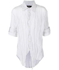 Yang Li | Asymmetric Front Shortsleeved Shirt Size 48 Cotton/