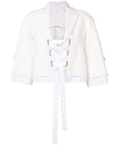 VICTOR ALFARO | Lace-Up Blazer Size 2