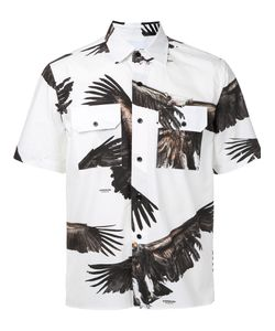 Yoshio Kubo | Eagle Print Short Sleeve Shirt Men