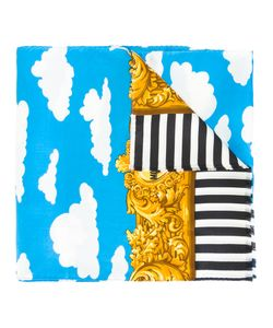 Moschino Vintage | Baroque Cloud Striped Scarf