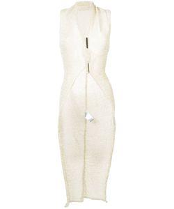 Isabel Benenato | Sleeveless Tailcoat Cardigan