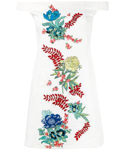 House Of Holland | Off-The-Shoulder Embroidered Dress