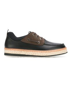 Salvatore Ferragamo | Raffia Sole Boat Shoes 9 Calf