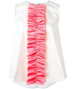 Paskal   Ruffle Detail Sleeveless Top Small Polyester/Cotton/Spandex/Elastane