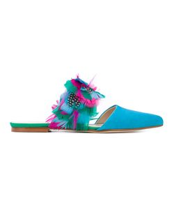 Anna Baiguera | Feathers Applique Sandals