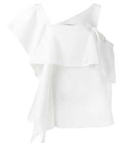 Dorothee Schumacher | Asymmetric Sleeves Ruffled Blouse Size 3