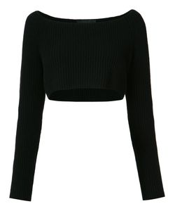 Baja East | Long Sleeve Cropped Rib Knit Sweater Size 2