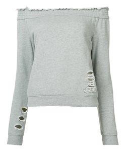Pam & Gela   Off-Shoulders Sweatshirt