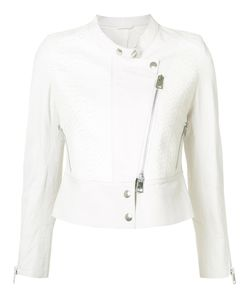 Sylvie Schimmel | Collarless Biker Jacket 38 Lamb Skin/Python