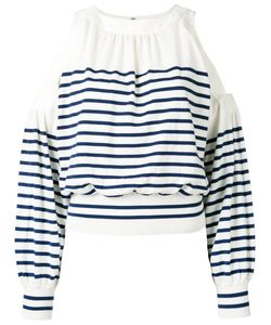 Sacai | Cold Shoulder Striped Sweater Size