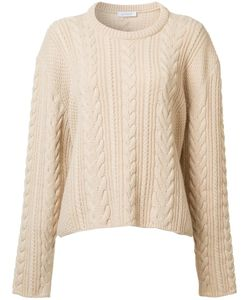 Ryan Roche | Cable Knit Cropped Jumper Medium Cashmere
