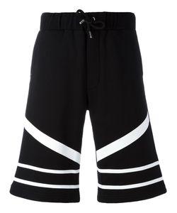 Les Hommes Urban | Striped Bermuda Shorts Size Large