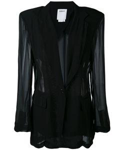DKNY   Sheer Panelled Blazer Women Xs