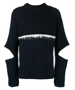 Helen Lawrence | Split Sleeve Jumper Xl Lambs Wool/Mohair/Wool/Polyamide