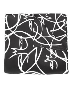 Haculla | Abstract Face Print Scarf Adult Unisex Silk