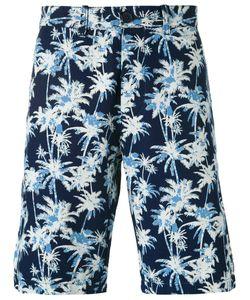 Edwin   Palm Tree Print Shorts