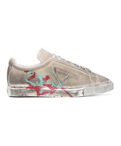 Xander Zhou | Distressed Painted Trainers Men