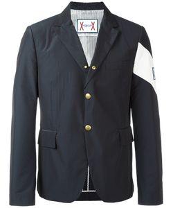 Moncler Gamme Bleu | Contrast Diagonal Stripe Blazer 1