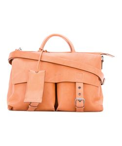 Marsèll | Buckled Satchel Linen/Flax/Leather/Metal Other