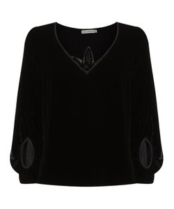 Martha Medeiros | Lace Velvet Top