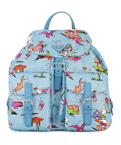 Prada | Surf Print Backpack