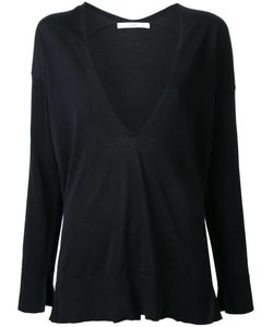 Astraet | Deep V-Neck Knitted Blouse Cotton