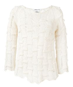 Lamberto Losani   Open Knit Jumper Small Cotton/Polyamide