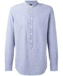 Mp Massimo Piombo | Embroidered Stripe Half-Button Shirt 41
