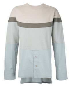 General Idea | Colour Block Shirt Panel Sweatshirt Size 50