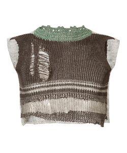 Vivienne Westwood | Distressed Knit Cropped Vest Size