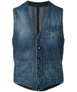 Lardini | Washed Denim Waistcoat