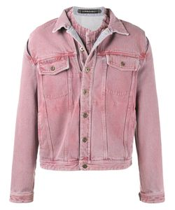 Y / Project | Overdye Denim Jacket With Removable Denim Undershirt