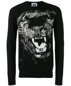 Les Hommes Urban | Lion Print Sweatshirt Large Cotton