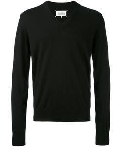 Maison Margiela | Elbow Patch V-Neck Jumper Cotton/Wool/Calf