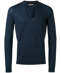 Nuur | Round Split Neck Sweater