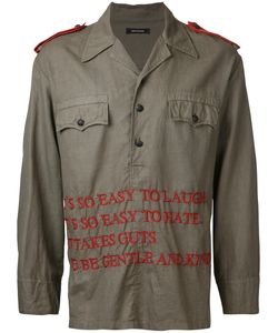 Christian Dada | Embroidered Text Shirt Jacket Size