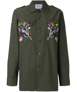 Forte Couture | Embroide Ducks Shirt 44 Cotton/Polyester
