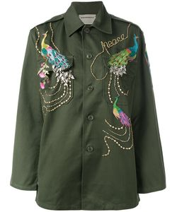 Night Market | Peacock Embroidered Army Jacket